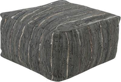 Anthracite Pouf- Charcoal
