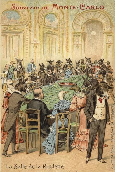 Anthropomorphic Illustration of the Follies of the Casino at Monte Carlo--Giclee Print