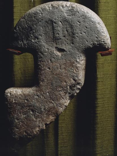 Anthropomorphic Statue-Stele Consisting of Head and Neck, from Val Di Magra in Lunigiana--Giclee Print