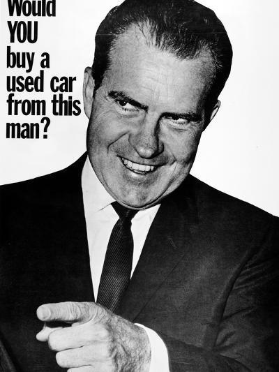 Anti-Nixon Poster, 1960--Photographic Print