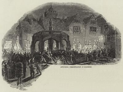 Anti-Papal Demonstration at Salisbury--Giclee Print
