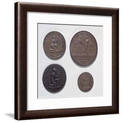 Anti-Slavery Coins and Medals--Framed Giclee Print