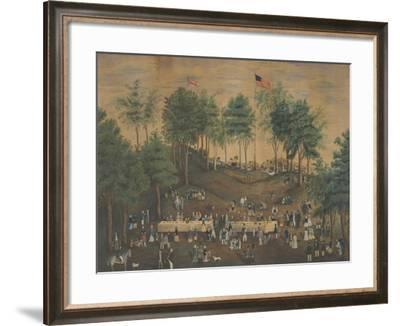 Anti-Slavery Picnic at Weymouth Landing, Massachusetts, C.1845-Susan Torrey Merritt-Framed Giclee Print