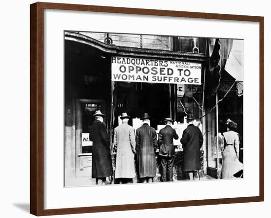 Anti-Suffrage Association--Framed Photographic Print