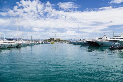 Antibes, France. Yachts in Port Vauban - 2- vvr-Photographic Print