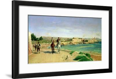 Antibes, the Horse Ride, 1868-Jean-Louis Ernest Meissonier-Framed Giclee Print