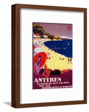 Antibes Vintage Poster - Europe-Lantern Press-Framed Art Print