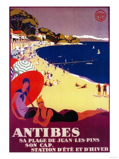 Antibes Vintage Poster - Europe-Lantern Press-Art Print