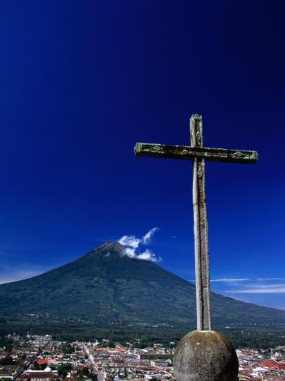 Antigua City and Water Volcano, Sacatepequez, Guatemala-Alfredo Maiquez-Photographic Print