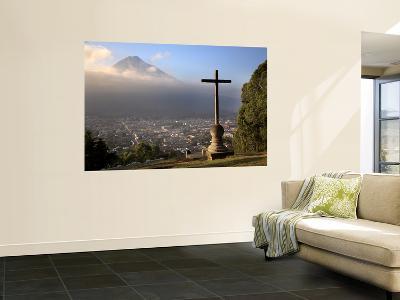 Antigua Cityscape from Cerro De La Cruz-Diego Lezama-Wall Mural
