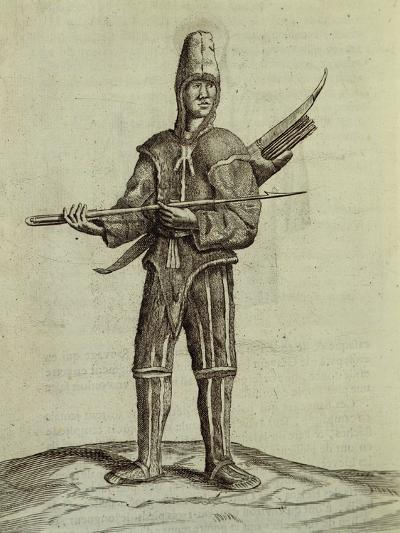 Antillean Fisherman Dressed in Sharkskin, 1726, from the Natural History of the Antilles Islands--Giclee Print