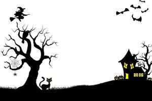 Halloween Silhouette Background by antimartina