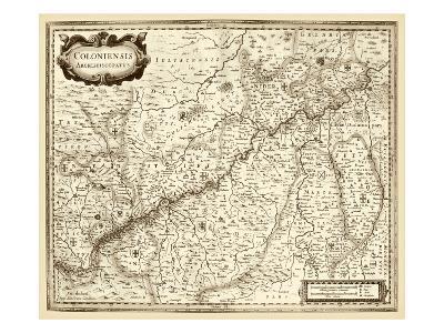 Antiquarian Map II-Vision Studio-Art Print