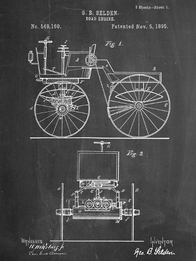 Antique Automobile Patent 1895--Art Print