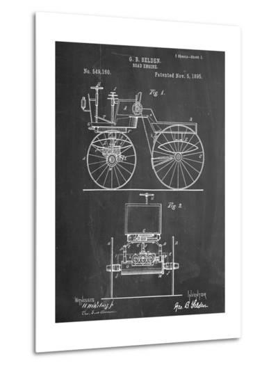 Antique Automobile Patent 1895--Metal Print