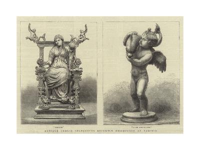 Antique Bronze Statuettes Recently Discovered at Pompeii--Giclee Print