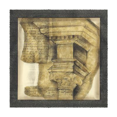 Antique Capitals IV-Jennifer Goldberger-Giclee Print
