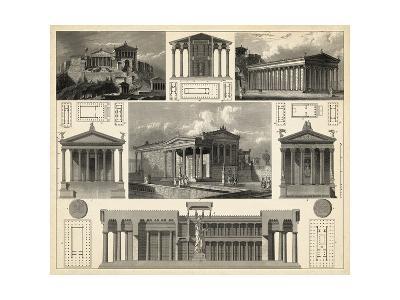 Antique City Plan I-Vision Studio-Art Print