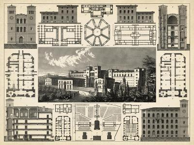 Antique City Plan III-Vision Studio-Art Print