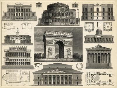 Antique City Plan IV-Vision Studio-Art Print