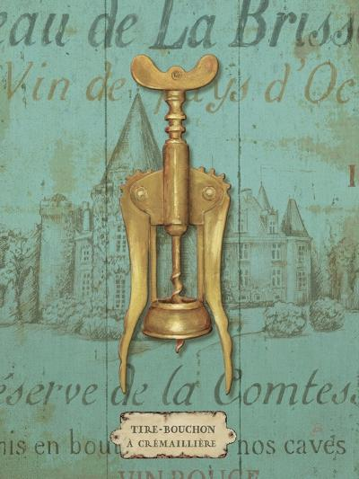 Antique Corkscrew III Blue-Daphne Brissonnet-Art Print