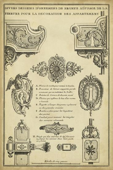 Antique Decorative Locks II-J^F^ Blondel-Art Print