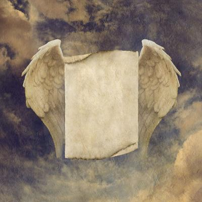 Antique Effect Parchment Angel Wings-Nikki Zalewski-Photographic Print