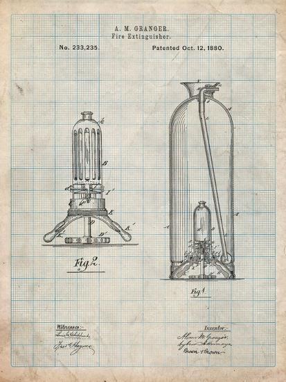 Antique Fire Extinguisher 1880 Patent-Cole Borders-Art Print
