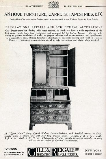 'Antique furniture, carpets, tapestries etc', 1921-Unknown-Giclee Print
