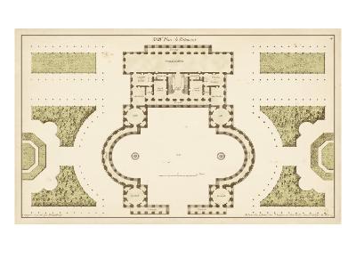Antique Garden Plan II-Jean Deneufforge-Art Print