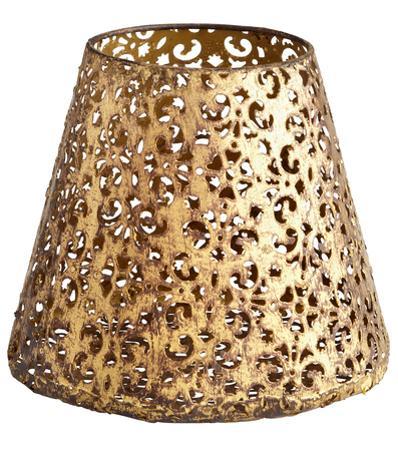 Antique Gold Filigree Cone Bowl - Medium