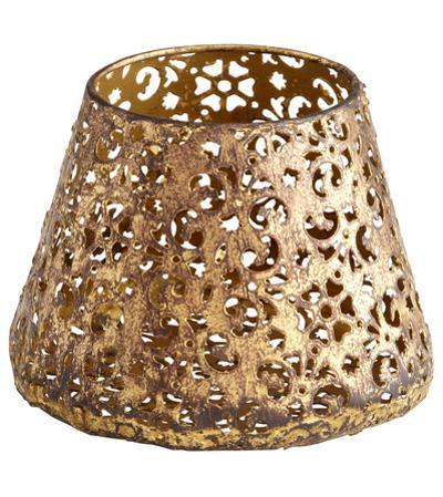 Antique Gold Filigree Cone Bowl - Small
