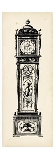 Antique Grandfather Clock I-Vision Studio-Art Print