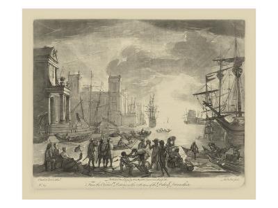 Antique Harbor I-Claude Lorraine-Art Print