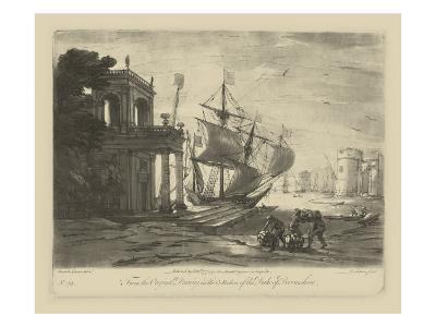 Antique Harbor IV-Claude Lorraine-Art Print