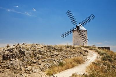 Antique La Mancha Windmills in Consuegra, Spain-Julianne Eggers-Photographic Print