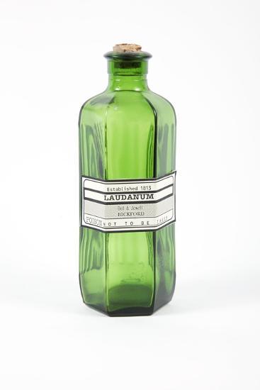 Antique Laudanum Bottle-Gregory Davies-Photographic Print