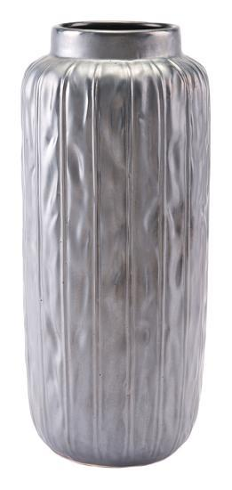 Antique Lg Vase Metallic Gray--Home Accessories