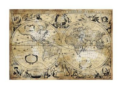 Antique Map I-Russell Brennan-Giclee Print