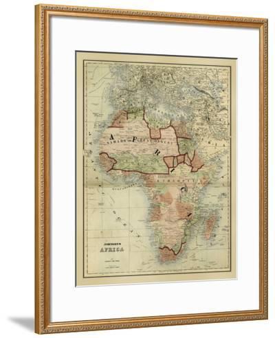 Antique Map of Africa-Alvin Johnson-Framed Giclee Print