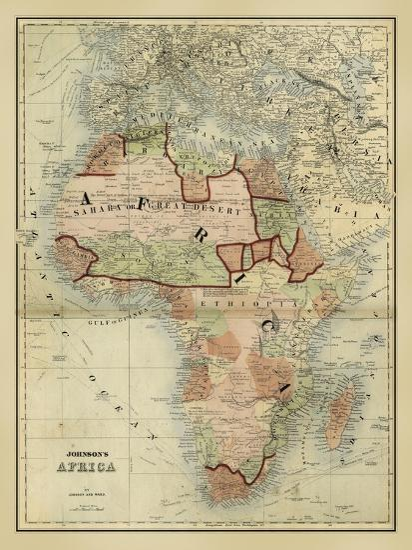 Antique Map Of Africa Art Print By Alvin Johnson Art Com