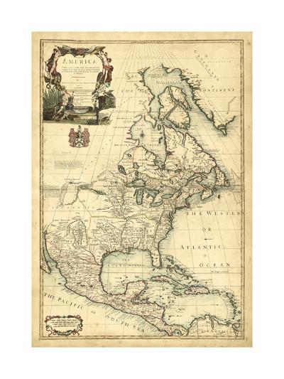 Antique Map of America III--Art Print