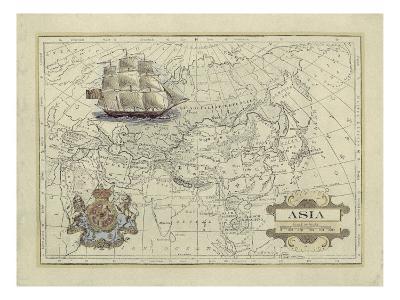 Antique Map of Asia-Vision Studio-Art Print