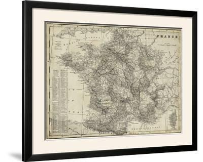 Antique Map of France-Vision Studio-Framed Photographic Print