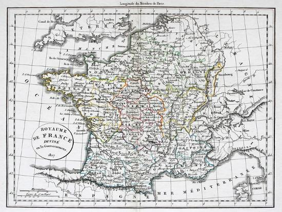 Map Of France To Print.Antique Map Of France Art Print By Tektite Art Com
