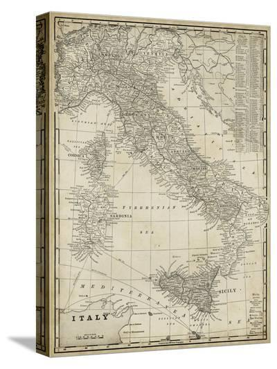 Antique Map of Italy-Vision Studio-Stretched Canvas Print