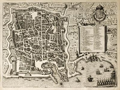 Antique Map Of Palermo, The Main Town In Sicily-marzolino-Art Print