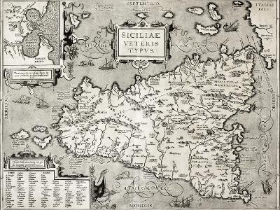 Antique Map Of Sicily With Syracuse Detail-marzolino-Art Print
