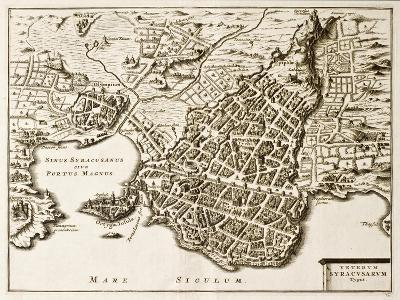 Antique Map Of Syracuse, Sicily-marzolino-Art Print