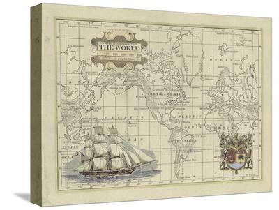Antique Map of the World-Vision Studio-Stretched Canvas Print
